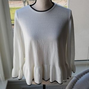 Per Una Marks & Spencer Ivory Peplum Sweater 14
